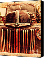 American Trucks Canvas Prints - Nostalgic Rusty Old Ford Truck . 7D10281 Canvas Print by Wingsdomain Art and Photography