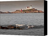 Nubble Light Canvas Prints - Nubble Light Canvas Print by James Dricker