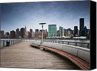 Nyc Photo Canvas Prints - NYC Brooklyn Quai Canvas Print by Nina Papiorek