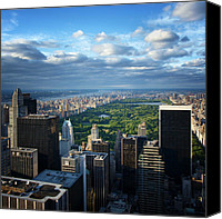 Nyc Photo Canvas Prints - NYC Central Park Canvas Print by Nina Papiorek