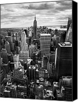 Urban Landscape Canvas Prints - NYC Downtown Canvas Print by Nina Papiorek