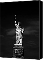 Urban Landscape Canvas Prints - NYC Miss Liberty Canvas Print by Nina Papiorek