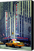 Nina Photo Canvas Prints - NYC Radio City Music Hall Canvas Print by Nina Papiorek
