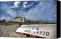 Row Canvas Prints - Ocean City Lifeboat Canvas Print by John Loreaux