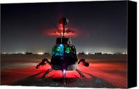 Aircraft Photo Canvas Prints - Oh-58d Kiowa Pilots Run Canvas Print by Terry Moore