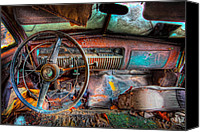 Classic Gas Pumps Canvas Prints - Old and rusty  Canvas Print by Emmanuel Panagiotakis