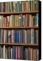 Antique Books Canvas Prints - Old Books on a Bookshelf Canvas Print by Paul Edmondson
