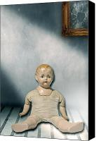 Doll Canvas Prints - Old Doll Canvas Print by Joana Kruse