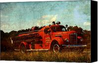 Siren Canvas Prints - Old Fire Truck Canvas Print by Off The Beaten Path Photography - Andrew Alexander