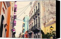 Old San Juan Canvas Prints - Old San Juan Puerto Rico Canvas Print by Kim Fearheiley