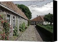 Cloud Mixed Media Canvas Prints - Old Village Canvas Print by Stefan Kuhn