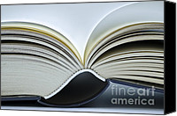 Antique Books Canvas Prints - Open Book Canvas Print by Frank Tschakert