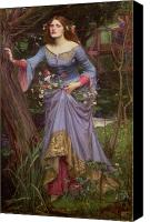 Bank Canvas Prints - Ophelia Canvas Print by John William Waterhouse