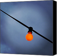 Featured Canvas Prints - Orange Light Bulb Canvas Print by Matthias Hauser