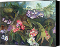 Susan Hanlon Canvas Prints - Orchids I Canvas Print by Susan Hanlon