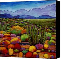 Landscape Painting Canvas Prints - Organ Pipe Canvas Print by Johnathan Harris