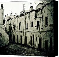 Old Houses Canvas Prints - Ostuni - Apulia Canvas Print by Joana Kruse
