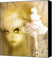 Rosy Hall Digital Art Canvas Prints - Out of the Picture Canvas Print by Rosy Hall