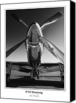 P51 Mustang Canvas Prints - P-51 Mustang - Bordered Canvas Print by John  Hamlon