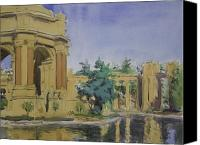 Fine Arts Canvas Prints - Palace of Fine Arts Canvas Print by Walter Lynn Mosley