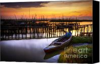 Jetty Canvas Prints - Palaffite port Canvas Print by Carlos Caetano