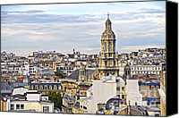 Skyline Canvas Prints - Paris rooftops Canvas Print by Elena Elisseeva