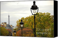 House Canvas Prints - Paris street Canvas Print by Elena Elisseeva