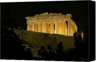 Acropolis Canvas Prints - Parthenon Canvas Print by Ellen Henneke