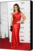 Satin Dress Canvas Prints - Penelope Cruz At Arrivals For New York Canvas Print by Everett