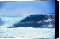 Seafoam Canvas Prints - Perfect Wave At Pipeline Canvas Print by Vince Cavataio - Printscapes