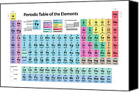 Table Canvas Prints - Periodic Table of Elements Canvas Print by Michael Tompsett