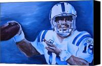Sports Art Painting Canvas Prints - Peyton Canvas Print by Mikayla Henderson