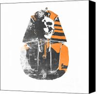 Orange Black Canvas Prints - Pharaoh stencil  Canvas Print by Pixel  Chimp