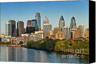 Skylines Canvas Prints - Philadelphia Skyline Canvas Print by John Greim
