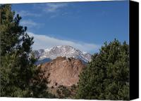 Colorado Artwork Canvas Prints - Pikes Peak Canvas Print by Ernie Echols