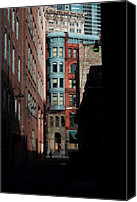 Pioneer Square Canvas Prints - Pioneer Square Alleyway Canvas Print by David Patterson
