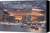 Steelers Canvas Prints - Pittsburgh 4 Canvas Print by Emmanuel Panagiotakis