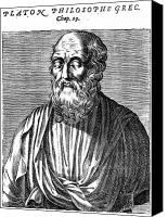 4th Canvas Prints - Plato (427?-347 B.c.) Canvas Print by Granger