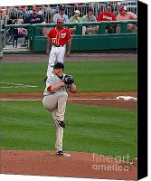 Jon Lester Canvas Prints - Poetry in Motion Canvas Print by Tom Prendergast