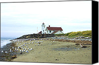 Point Wilson Lighthouse Canvas Prints - Point Wilson Lighthouse Canvas Print by Randall Arthur