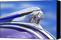 Hot Rod Car Canvas Prints - Pontiac Hood Ornament  Canvas Print by Mike McGlothlen