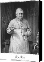 Skullcap Canvas Prints - Pope Pius Ix (1792-1878) Canvas Print by Granger