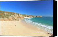 Kernow Canvas Prints - Porthcurno Canvas Print by Carl Whitfield