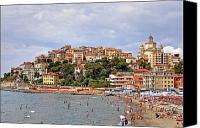 Umbrellas Canvas Prints - Porto Maurizio - Liguria Canvas Print by Joana Kruse