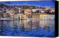 Italy Canvas Prints - Porto Stefano in Italy Canvas Print by George Atsametakis