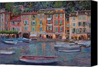 Reflections Canvas Prints - Portofino al crepuscolo Canvas Print by Guido Borelli