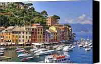 Houses Canvas Prints - Portofino Canvas Print by Joana Kruse