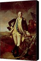 Military Uniform Painting Canvas Prints - Portrait of George Washington Canvas Print by Charles Willson Peale