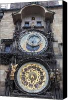 Vltava Canvas Prints - Prague Astronomical Clock Canvas Print by Andre Goncalves