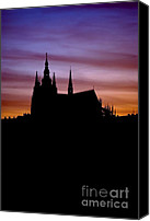 Prague Castle Canvas Prints - Prague castle Canvas Print by Michal Boubin